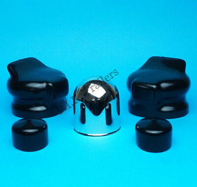 Chrome Towball Cover & 2 x Plug & Socket Covers 7 Pin Towing Caravan Motor Home