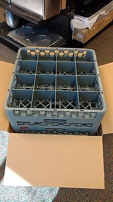 16 Compartment Glass Rack Case of 6