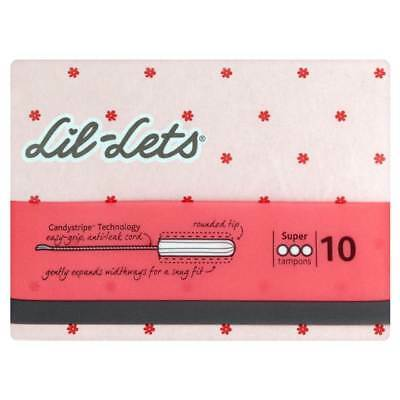 Lil-Lets Non-Applicator Tampons Super 10s