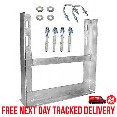 "Aerial Tv Wall Mount Bracket 12"" X 12"" Galvanised Including Fixings"