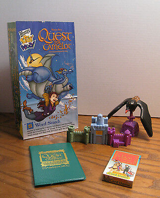 Wendy's Kids Meal Toys from Quest For Camelot Movie - Go Fish, Passport, Viewer