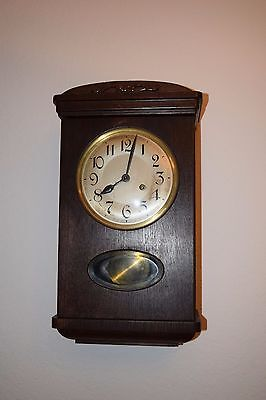 1930's to 1940's Antique W & A Schmid Schlenker German Wall Clock