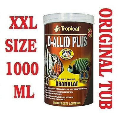D-ALLIO PLUS Granules - Complete Food for Discus with garlic (30%) 1000ml/600g