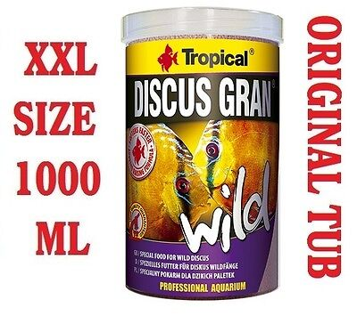 DISCUS GRAN WILD Colour-Enhancing Sinking Granules Food for Discus 1000ml/340g.