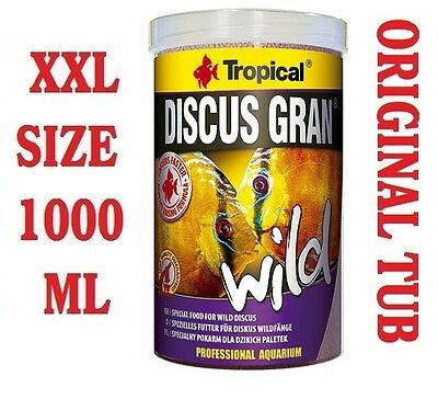 DISCUS GRAN WILD Colour-Enhancing Sinking Granules Food for Discus 1000ml/340g,