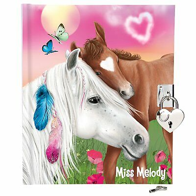 NEW miss melody SECRETS BOOK/DIARY BROWN HORSE