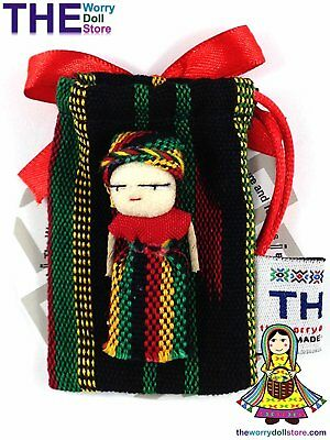 New Rasta Girl 5cm Worry Doll in Pouch