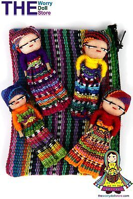 New Worry Dolls in Textile Zip Pouch for Boys