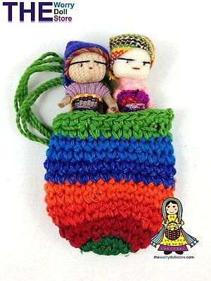 New Worry Dolls in Knit Pouch for Boys