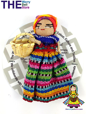 New Worry Dolls 8cm Girl Magnet