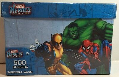 Marvel Heroes - 500 Piece Sticker and Decal Set in Collectors Box - New