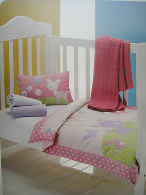 Pretty Baby Cot Quilt & Pillow--Deerlet & Butterfly