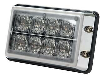 Roadvision Led Strobe Light 11-30V Blu/blu 8 Led 19 Function Chrome Base