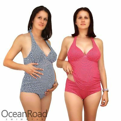 Maternity Tankini with Full Brief size M L XL Swimmers Pregnancy Swimwear 14 16