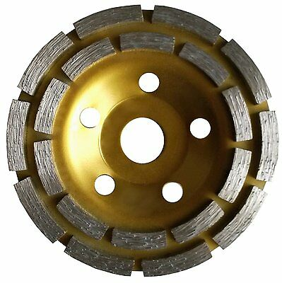 32 Pieces 4 inch Double Row Grinding Cup Wheel, NO-Thread, For Concrete,Diamond