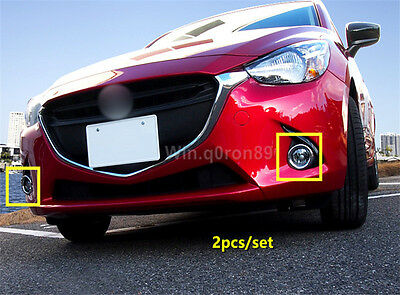 NEW Arrival!!For Mazda 2 Demio 2015 2016 ABS Exterior Front Fog Lamp Light Cover