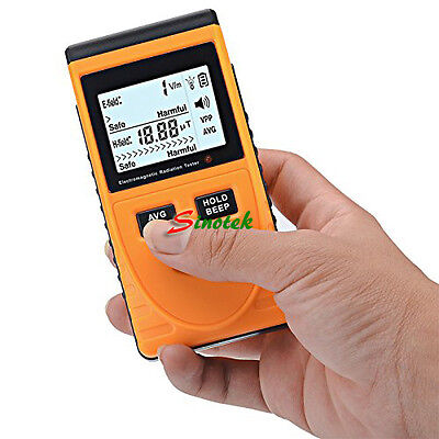 Digital LCD Electromagnetic Radiation Detector Meter Dosimeter Counter w/Battery