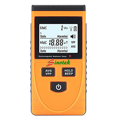 GM3120 Dual Mode Gauss EMF Meter Electromagnetic Radiation Detector Dosimeter