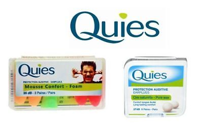 Quies Protection Earplugs 35dB-3 Pairs (Available In Multi-Packs)