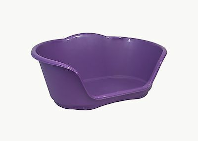 Medium Plastic Purple Dog / Cat / Pet Bed, Basket - Heavy Duty Made In Uk