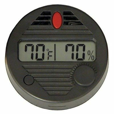 Quality Importers HygroSet II Round Digital Hygrometer for Humidors - DHYG-Round
