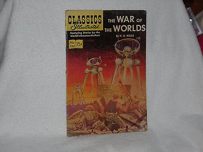 """Classics Illustrated Comic Books """"The War of the Worlds  Vol. 1 #124  1954"""
