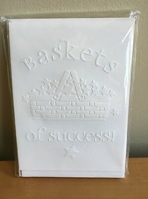 """Baskets of Success"" Embossed Cards -By Brenda Nippert - 9 cards w/ envelopes"