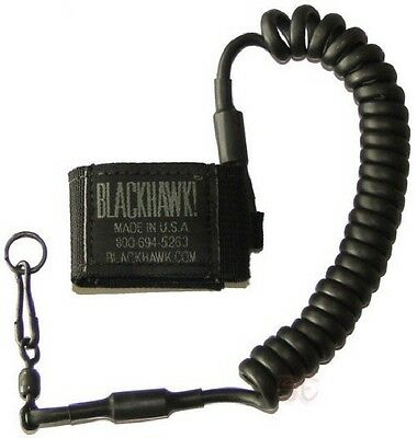 BlackHawk Tactical Pistol Lanyard with Metal Swivel Retains Weapon Camera Tool
