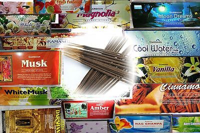 6 Box/Pack 120 Sticks total Darshan Incense Fragrance from India All Scents