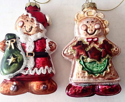 Gingerbread Christmas Ornaments Boy Girl Cookie Couple