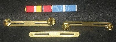 WW II  clutch back ribbon bar holder -two place  - 4 total