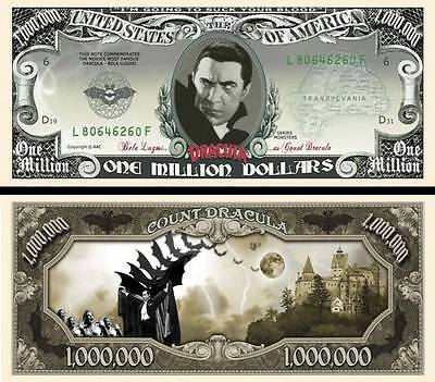 2 Notes Dracula Novelty Million Dollar Notes
