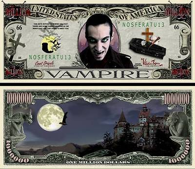 2 Notes Vampire Novelty Million Dollar Notes