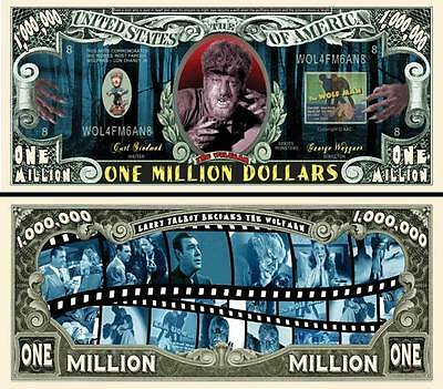 2 Notes Wolfman Novelty Million Dollar Notes