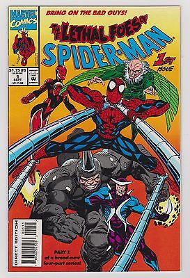 Lethal Foes of Spider-Man #1 #2 #3 #4 Complete Story (Sep 1993, Marvel) NICE