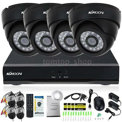 KKmoon 8CH 1080P Hybrid 5-in-1 Video Recorder+4pcs Wired 720P CCTV Cameras K3L8
