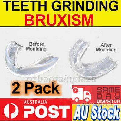 2 x BRUXISM Dental NIGHT GUARD Custom MOUTHGUARD Stop Teeth Grinding Grind Tooth