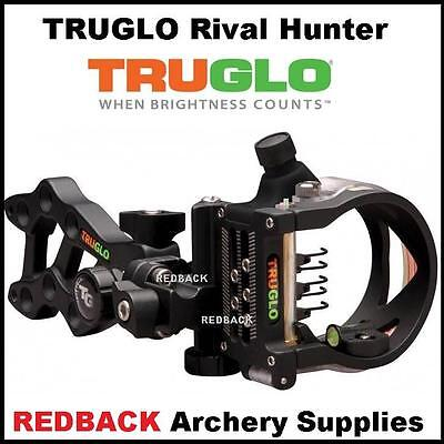 TruGlo Rival Hunter 5 Pin Archery Bowhunter Sight Right Hand Black With Light