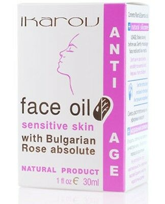 Anti Age Face Oil Sensitive Skin 30ml with Rose Essential Oil, Ikarov