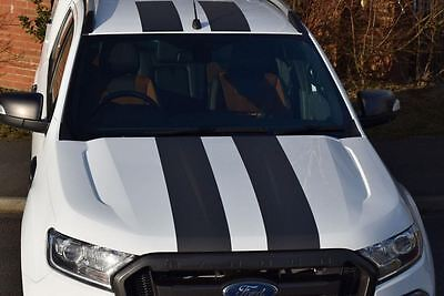Ford Ranger 2016   Sports Cobra Styling Twin Stripes - Graphite Carbon Effect