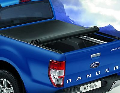 Ford Ranger 2016> Mountain Top Tonneau cover soft,double cab black w/out rollbar