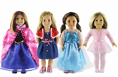 Hot 4 Set Doll Clothes Fashion Style for 18 inch American Girl Doll Clothes