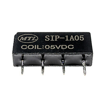 10pcs 5V Relay SIP-1A05 Reed Switch Relay for PAN CHANG Relay 4PIN