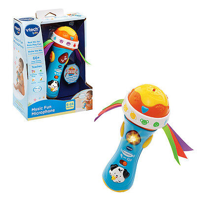 VTech Baby Music Fun Microphone Toy with amplified voice effect interactive song