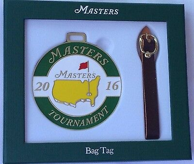 2016 Masters Bag Tag Augusta National golf new