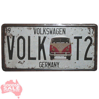 Germany Volkswagen VW Novelty Licence Plate Vintage Style Tin Metal Sign 30x15cm