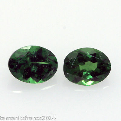 0,81 cts,TSAVORITE NATURELLE  2 pierres assorties   (pierres précieuses/ fines)