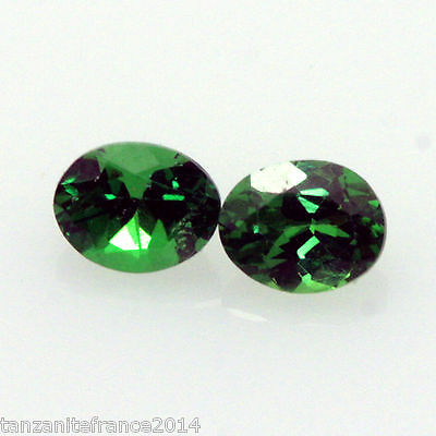 0,53 cts,TSAVORITE NATURELLE  2 pierres assorties   (pierres précieuses/ fines)