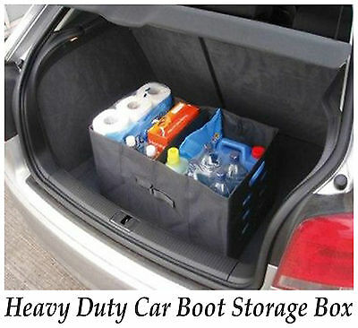 Heavy Duty Jumbo Bag Car Truck Boot Storage Partition Boxes Foldable Organiser
