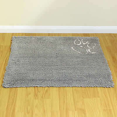 Large Grey Warm Cosy Fleece Pet Bed Floor/Door Mat Car/Crate/Cage Dog/Puppy/Cat